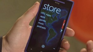 Le Windows Phone Store sur HTC 8X